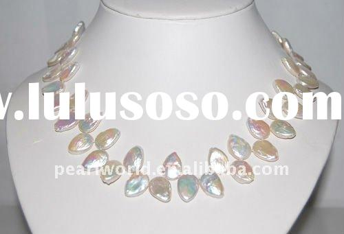 Unique style Strand freshwater coin pearl jewelry PN023