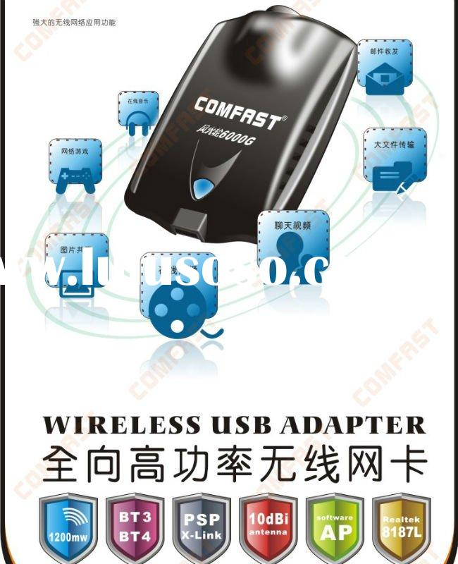Update Comfast 13dbi RTL8187L 6000G Windows 7 wireless adapter