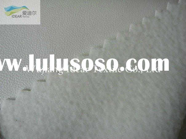 White Embossed PU Leather/Upholstery Fabric/Faux PU Leather Fabric