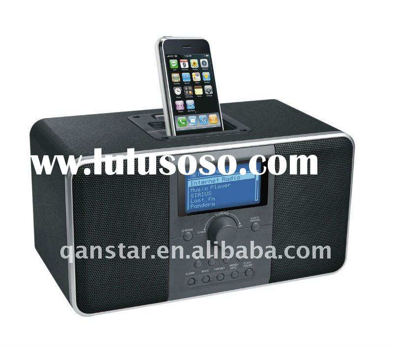Wi-Fi Internet Radio docking station for iphone ipod with FM, USB, Aux-In multimedia WF900i