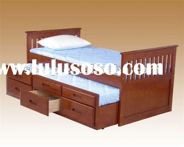 Wooden Trundle Bunk Bed