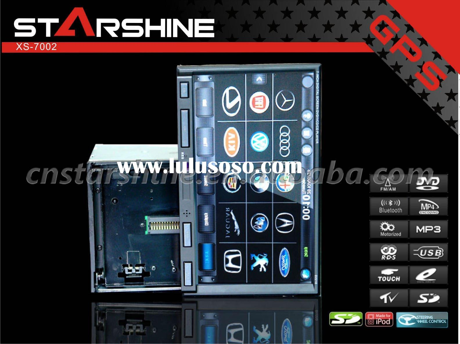 XS-7002: 7 Inch Car DVD GPS with detachable face panel