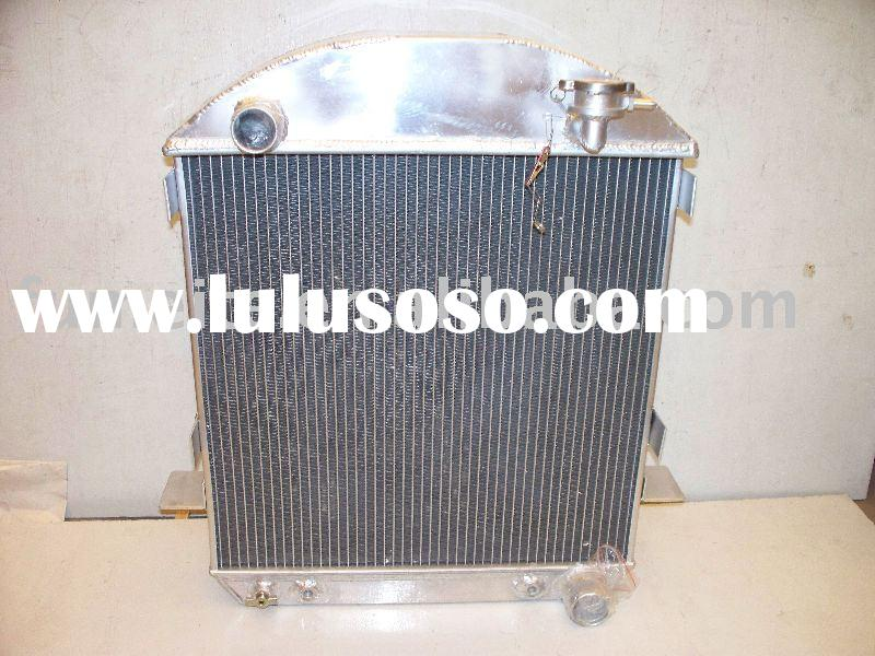aluminum racing radiator for 1932 FORD GRILL SHELLS HI-BOY CHEVY ENGINE W/COOLER,performance auto co