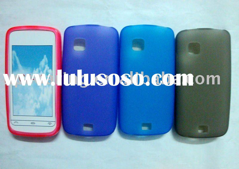 clear silicon rubber case skin back cover for Nokia C5-03