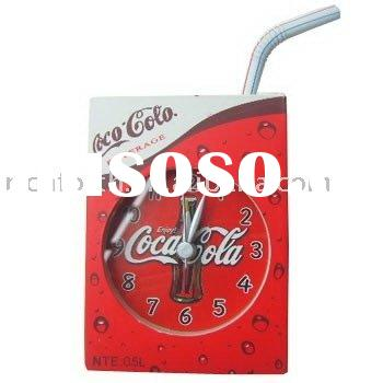 desk clock,alarm clock,quartz clock,table clock,plastic clock,promotional clock,Magnet Pepsi clock