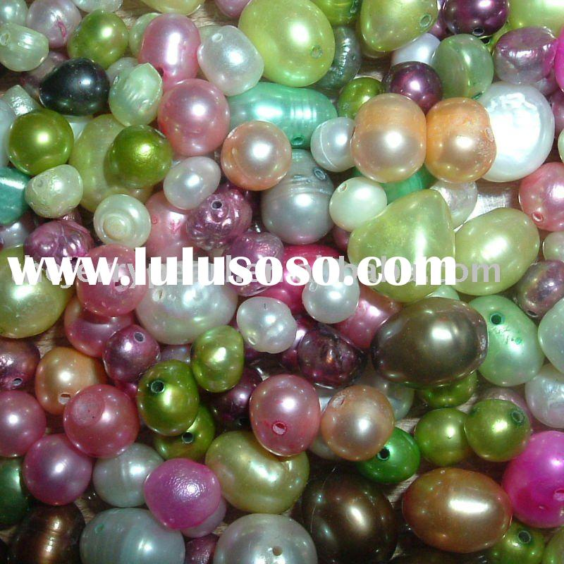 dyed multicolor loose beads freshwater pearls