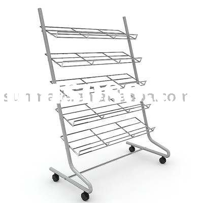 five tier rolling metal shoe rack