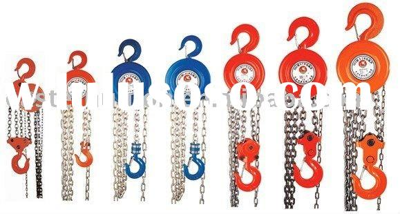high quality hand operated chain lifting hoist