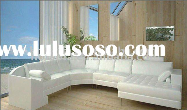 modern sectional leather sofa with italian design T841