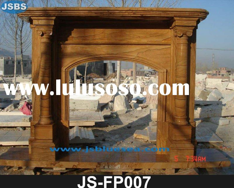 natural marble interior simple fireplace mantel