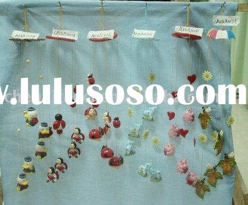 porcelain wind bell with christmas designsporcelain wind bell(ceramic windbell,porcelain wind chime,