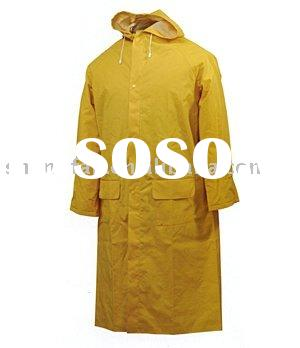 pvc yellow rain coat