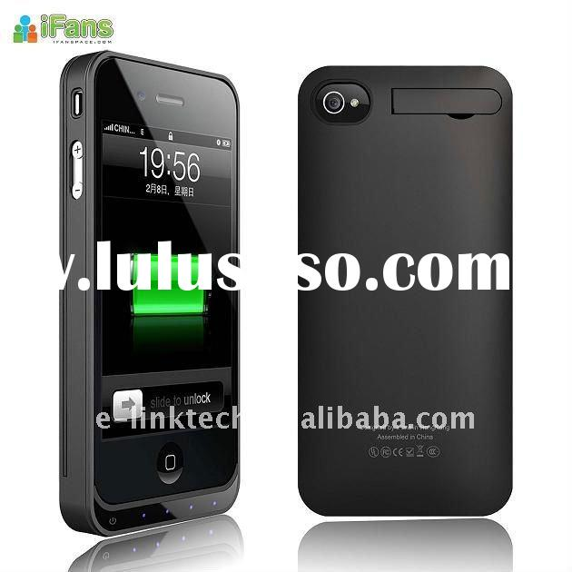 rechargeable External Battery Case for iPhone 4 with 1450mAh