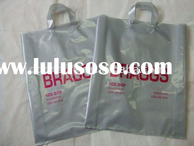soft loop handle plastic bags