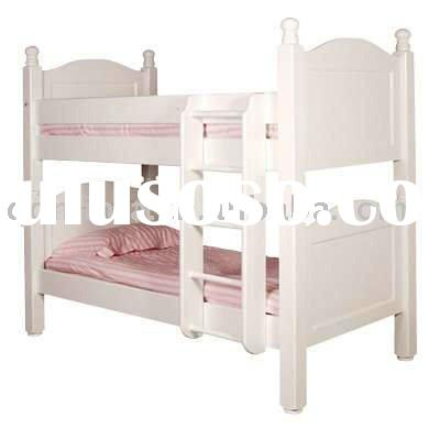 solid pine wood white painted bunk bed