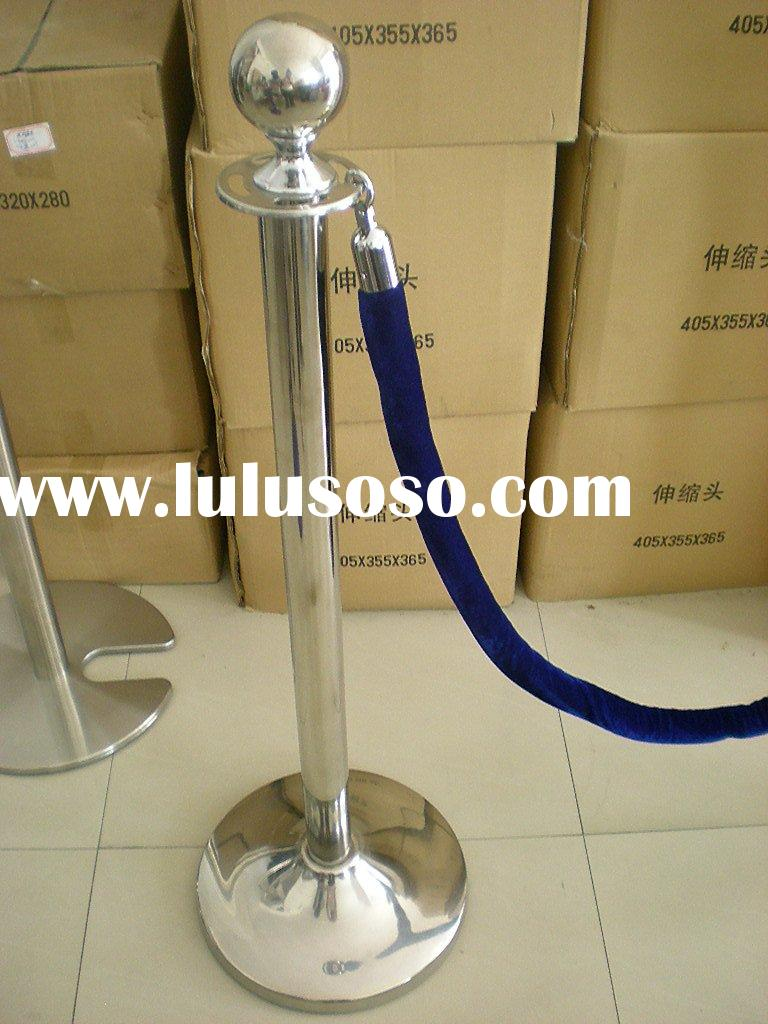 stainless steel railing stand with ropes