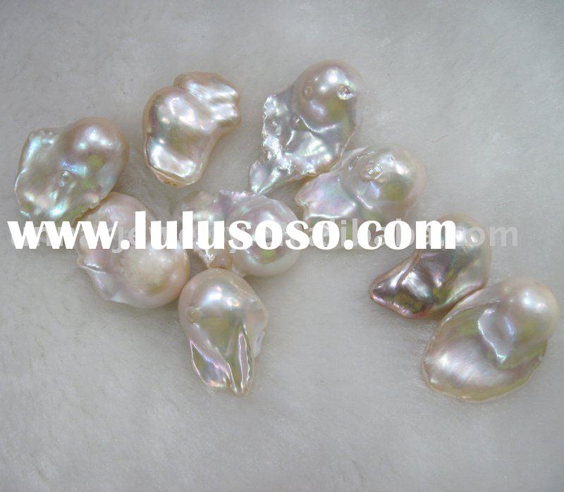 white 18mm freshwater baroque pearls