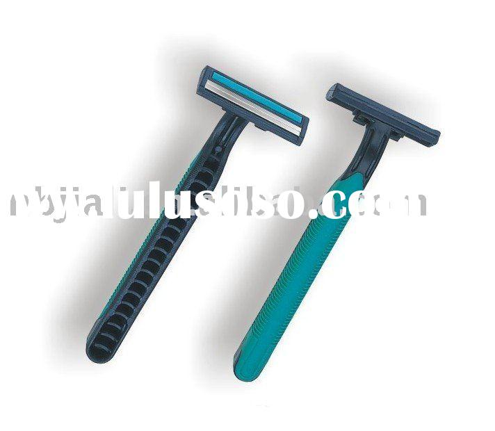 wholesales! disposable razor stainless balde twin blade with lubricanting strip shaver hotel medical