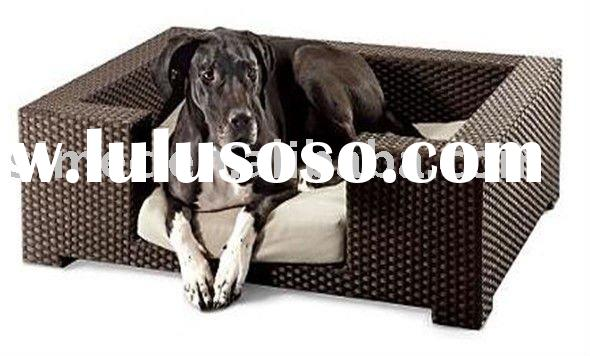 wicker rattan dog bed SCAC-011