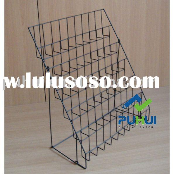 wire foldable counter top literature display