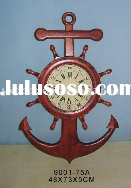 wooden wall clock, decorative clock