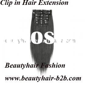 100% European human clip on hair extension-best selling in Mexico