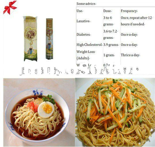 100%guranteed 2012 Instant dried konjac noodles/ vermicelli for high blood pressure