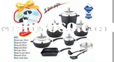 14 pcs Die-cast Aluminium Non-stick Cookware set(Y-1017)