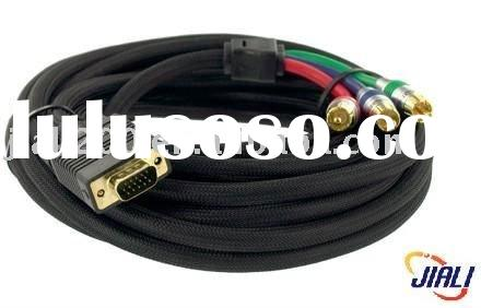 1.8M VGA to 3-RCA component video cable