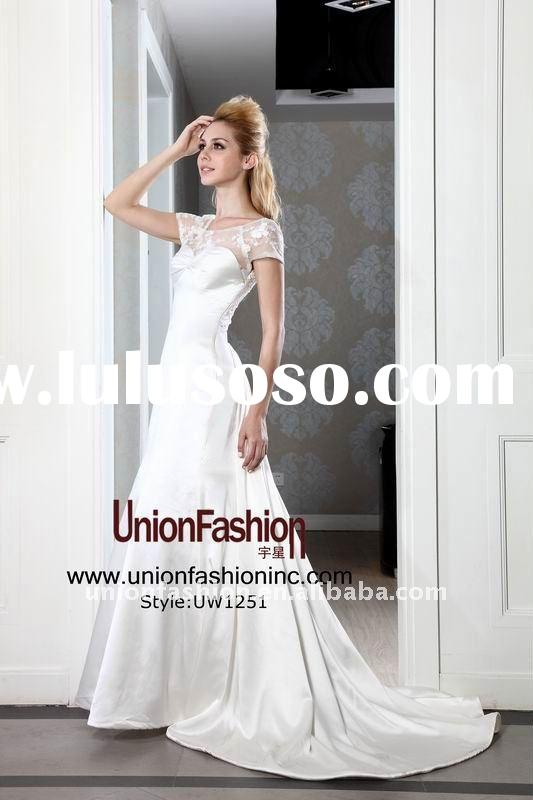 2011/2012 hot sale princess silk wedding dress UW1251
