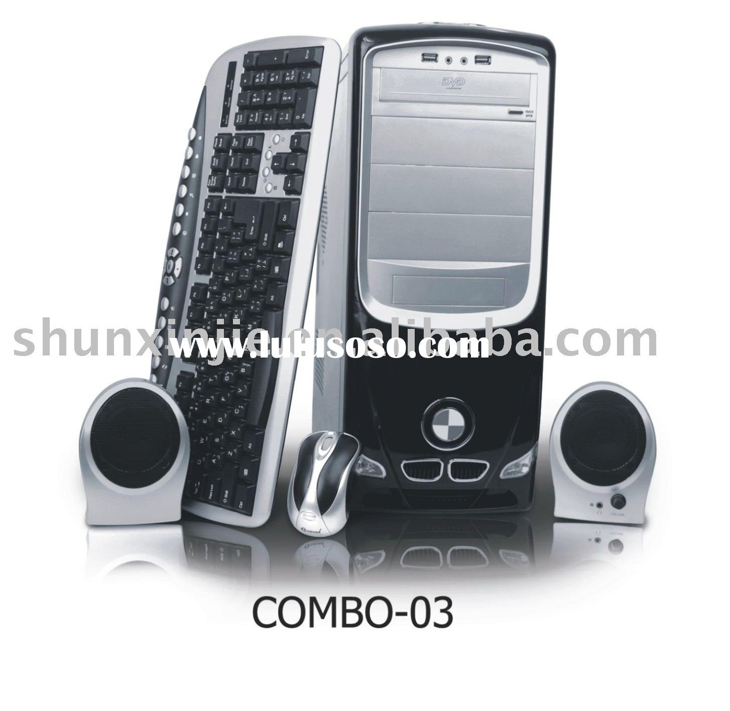 2011 Hot Sell computer ATX tower case Combo (With power supply),keyboard,mouse,web camera,headphone,