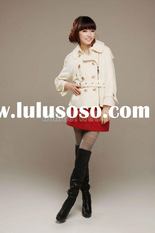 2011 Lowest Price!! Viwill Beige Lady Fashion Coat Jacket Outerwear in Stock!