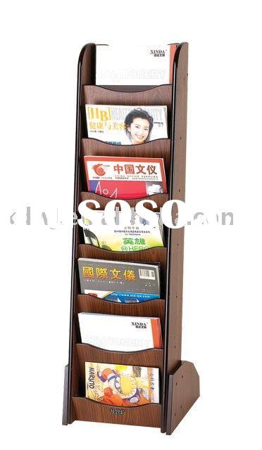 2011 durable and antique wooden magazine display rack