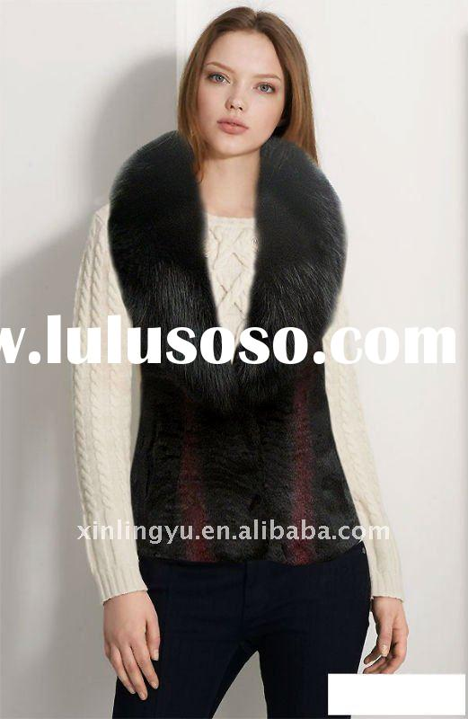 2011 free shipping Newest fashion leather Fur coats for women