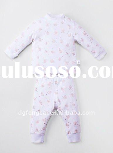 2011 hot sale long sleeve winter baby coats design with printing