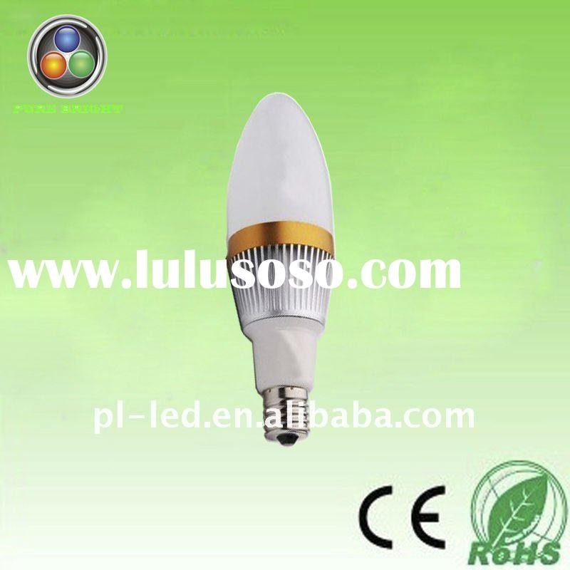 2011 new arrival high power e27 led candle bulb 3 watt