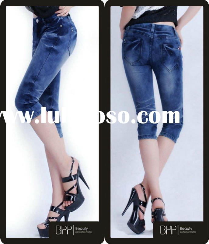 2011 new design miss me fashion short jeans for lady BPP patent pants