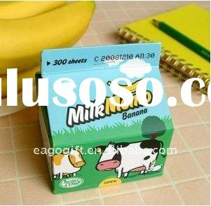 2011 new milk memo pad sticky memo pad