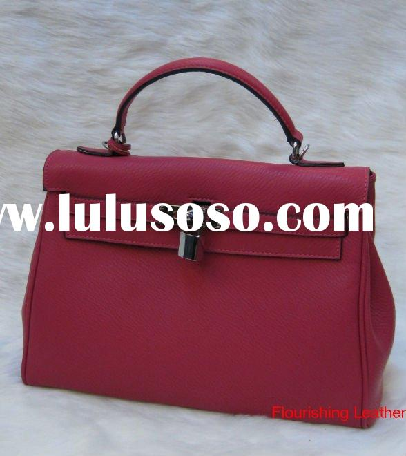 2011 popular genuine leather handbag with qulaity material