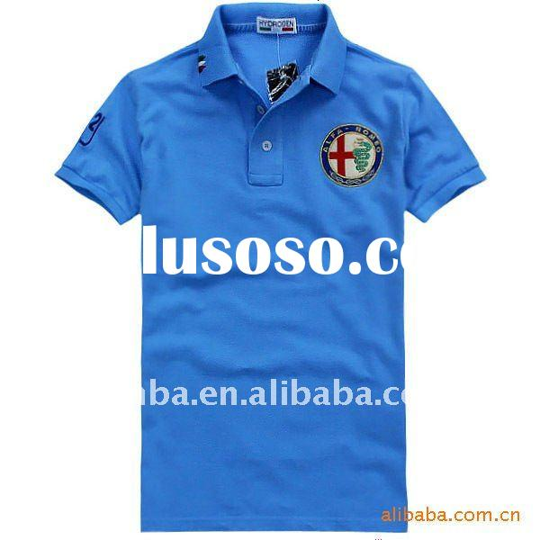 2012 latest fashion polo t shirt for men cotton polyester