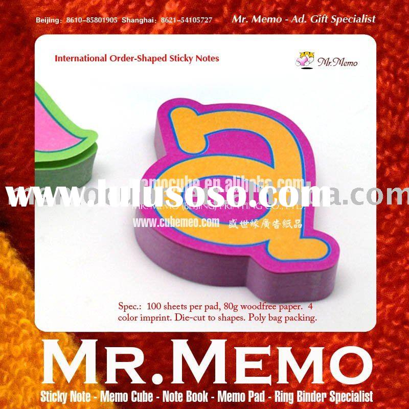 26 English alphabet shaped sticky note memo pad