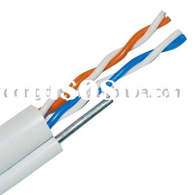 2 Twisted pair outdoor telephone cable with steel messenger