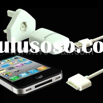 2 in 1 USB Cable + USB Power Adapter for iPad iPhone iPod (UK Plug)