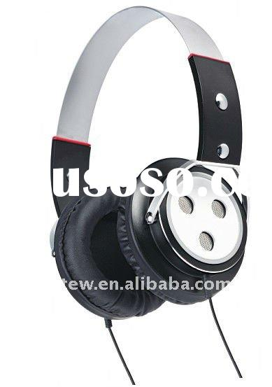 3.5mm stereo plug 50mm driver high quality noise cancelling new design metallic headphone
