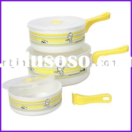 3pcs Microwave Food Container with Handles