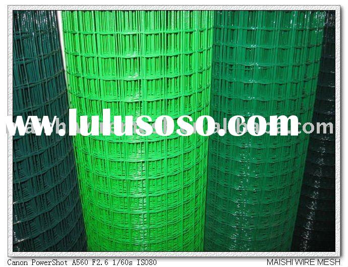 """4""""x4""""opening PVC Coated Welded Wire Mesh"""