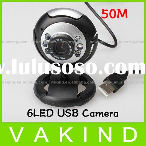 50.0M USB 6 LED Video Camera Webcam With Mic Microphone For PC Laptop Computer