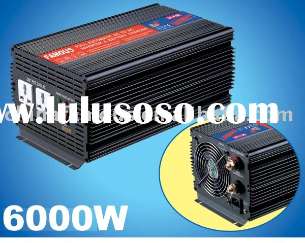 6000W DC/AC POWER INVERTER WITH CHARGER (AUTO SWITCH)