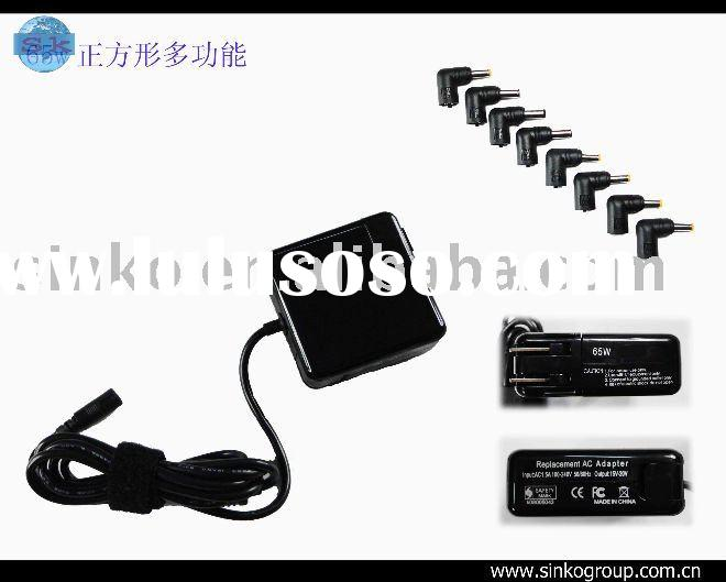 65w universal notebook adapter with 8pc tips