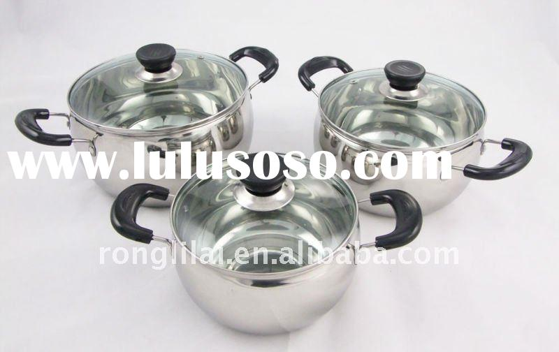 6Pcs Stainless steel Cookware Set ( Apple Shape Style)